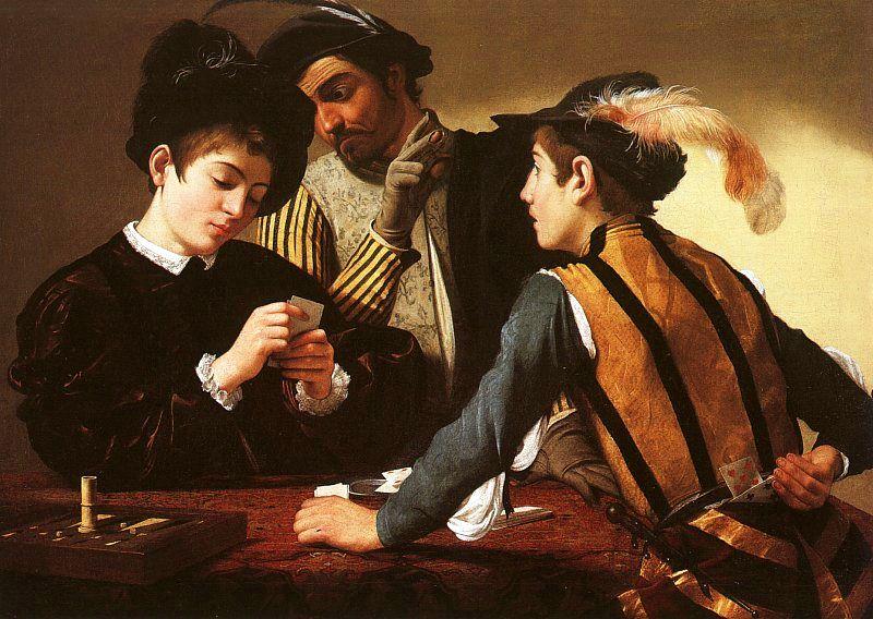Caravage, Les Tricheurs, 1594-1595