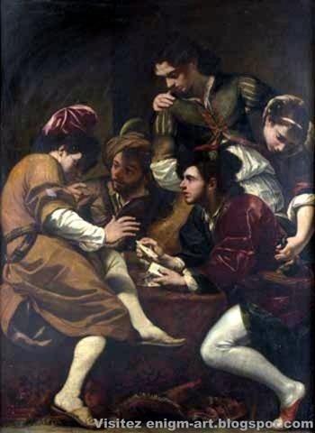 Les Joueurs de Cartes Giovanni Baptista Boncori, v. 1670