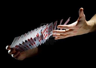 Jeu de cartes manipulation