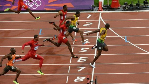 Finale du 100m 2012