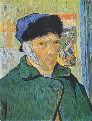 Van Gogh autoportrait oreille bandée
